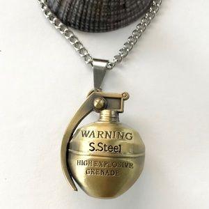 3D Grenade Pendant